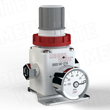 VMW-140-B-G-N01 - High Flow Vacuum Regulator - With Bracket, Gauge, 1/8
