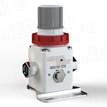 VMW-140-B-N01 - High Flow Vacuum Regulator - With Bracket, 1/8
