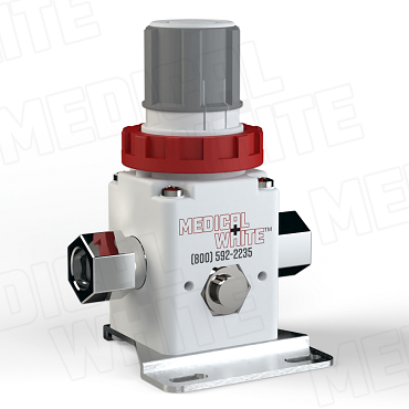 VMW-140-B-N02 - High Flow Vacuum Regulator - With Bracket, 1/4