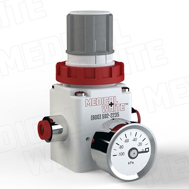 VMW-140-G-N07 - High Flow Vacuum Regulator - With Gauge, 1/4