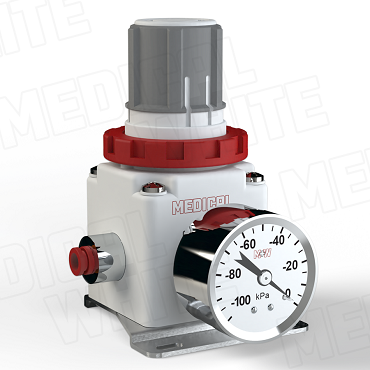 VMW-240-B-G-N07 - High Flow Vacuum Regulator - With Bracket, Gauge, 1/4