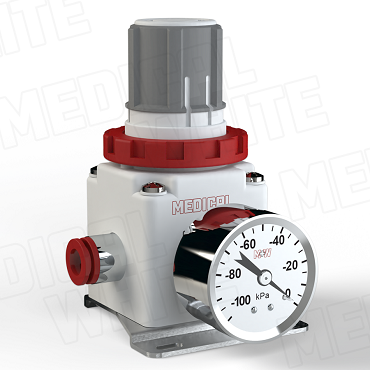 VMW-240-B-G-N11 - High Flow Vacuum Regulator - With Bracket, Gauge, 3/8
