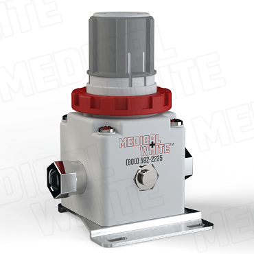 VMW-240-B-N02 - High Flow Vacuum Regulator - With Bracket, 1/4