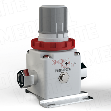 VMW-240-B-N03 - High Flow Vacuum Regulator - With Bracket, 3/8