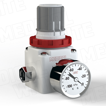 VMW-240-G-N02 - High Flow Vacuum Regulator - With Gauge, 1/4