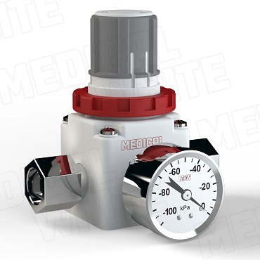 VMW-240-G-N04 - High Flow Vacuum Regulator - With Gauge, 1/2