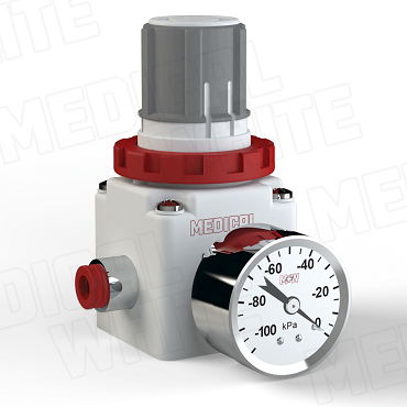 VMW-240-G-N09 - High Flow Vacuum Regulator - With Gauge, 5/16