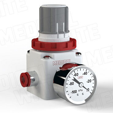 VMW-240-G-N11- High Flow Vacuum Regulator - With Gauge, 3/8