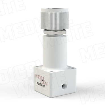 RMW-900-60-W/K - Miniature Precision Pressure Regulator - 10-32 Ports - 60 PSI with Adjusting Knob